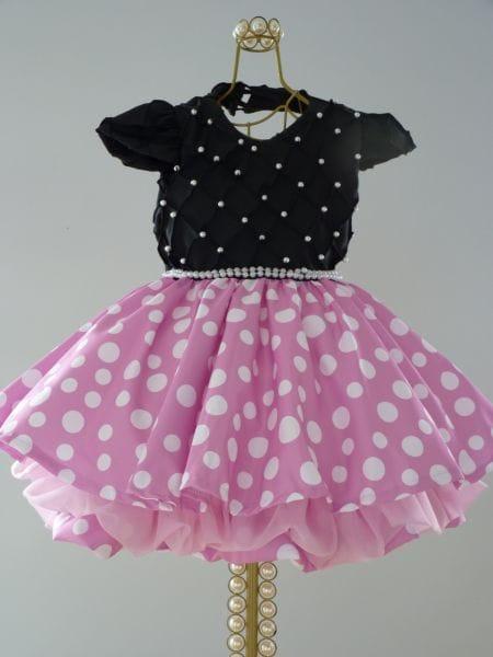 Vestido Minnie Luxo Rosa