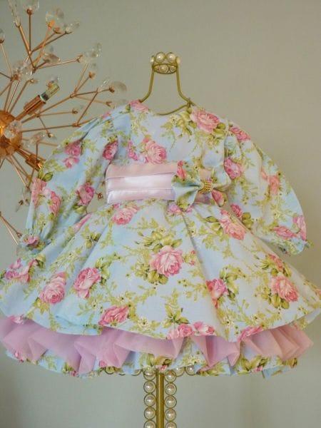 Vestido de Manga Longa Infantil