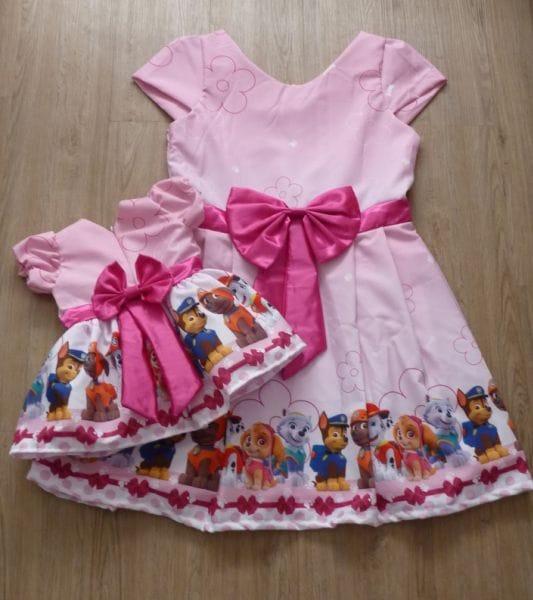 Vestido Patrulha Canina Tal mae Tal Filha