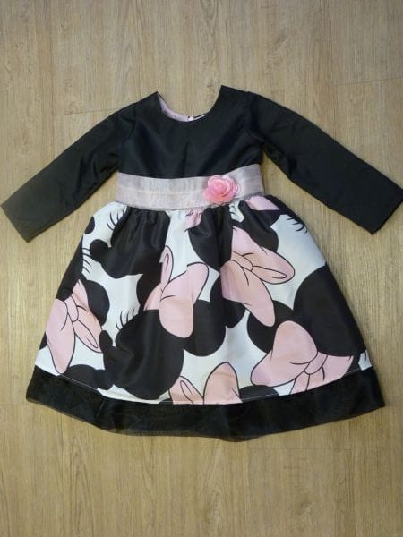 Vestido da Minnie Rosa Manga Longa
