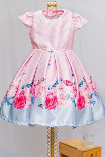 Vestido de Luxo Infantil Para Festa