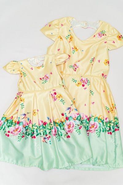 Vestidos de Festa Mãe e Filha Jardim Encantado
