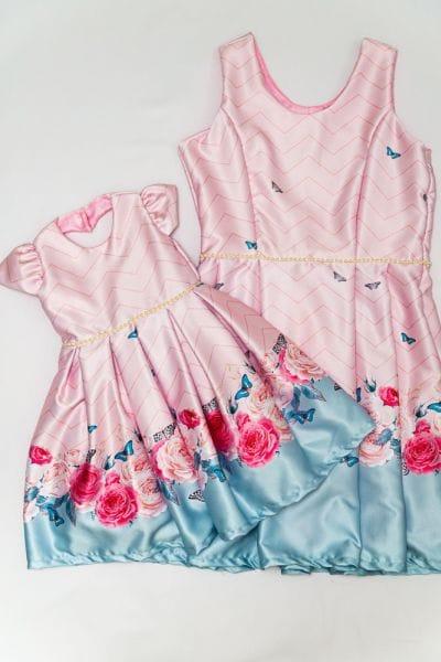 Vestido de Festa Mãe e Filha