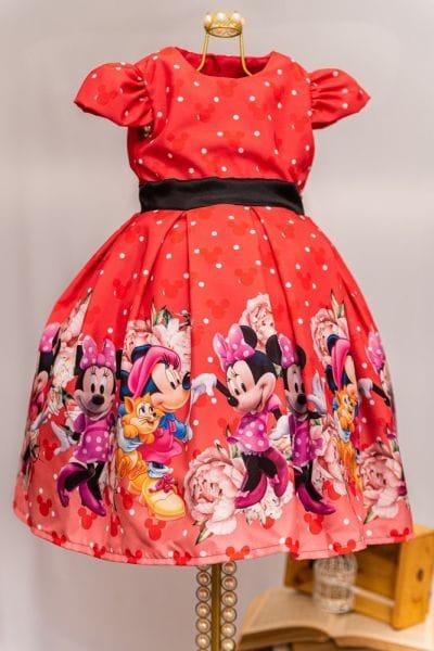Vestido da Minnie Vermelha Infantil