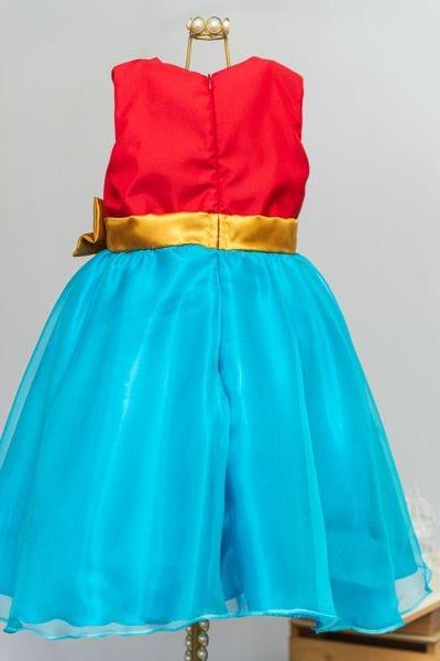 Vestido de criança da Mulher Maravilha