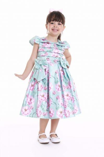 Vestido Infantil de Tecido Florido
