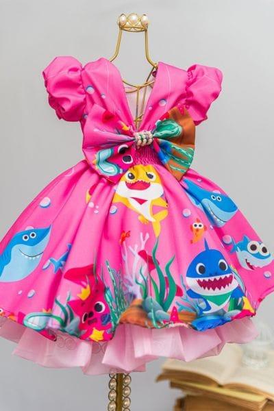 Vestido Baby Shark Rosa