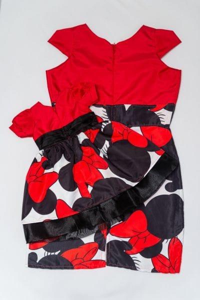 Vestido Minnie vermelha ma?e e filha
