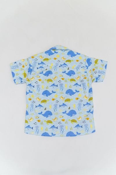 Camisa infantil tema fundo do mar