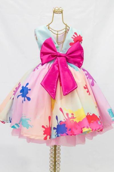 Vestido De Festa Infantil Slime