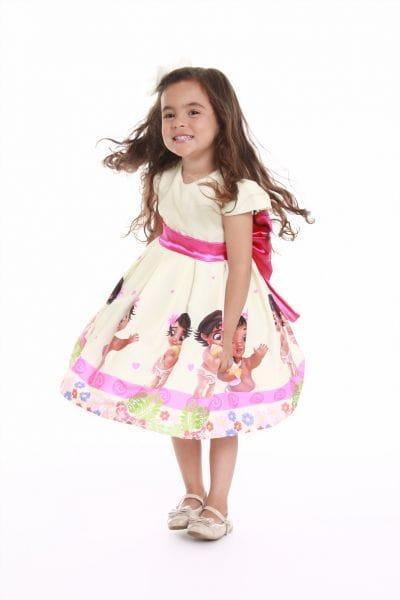 Vestido Infantil de Festa da Moana Baby