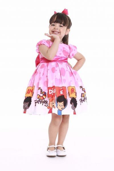Vestido de Festa Infantil 3 Palavrinhas