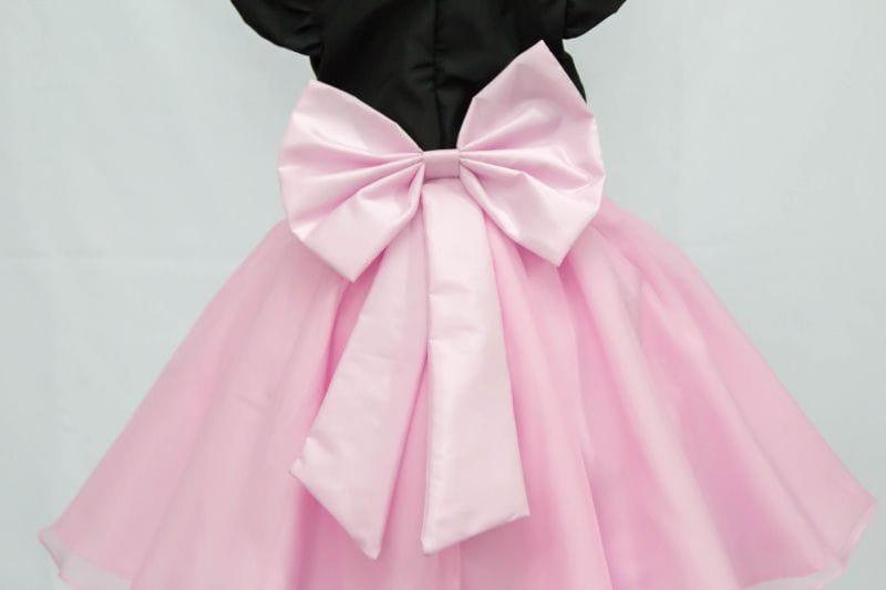 Vestido Infantil de Festa Preto e Rosa