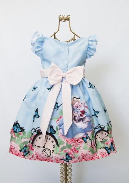 Vestido Alice no Pais das Maravilhas Infantil