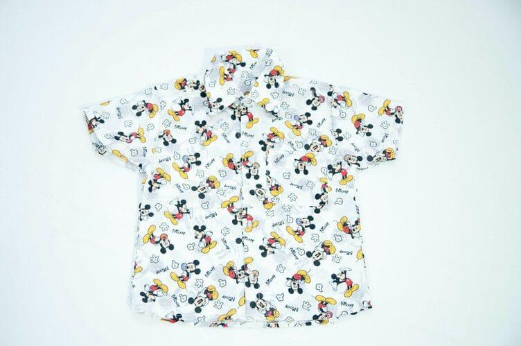 Camisa Social Infantil do Mickey