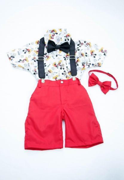 Conjunto Social Infantil Mickey Mouse - 4 peças