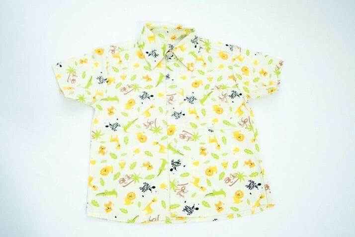 Camisa Social Infantil Safari