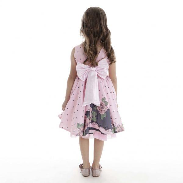 Vestido Floral Rosa Infantil