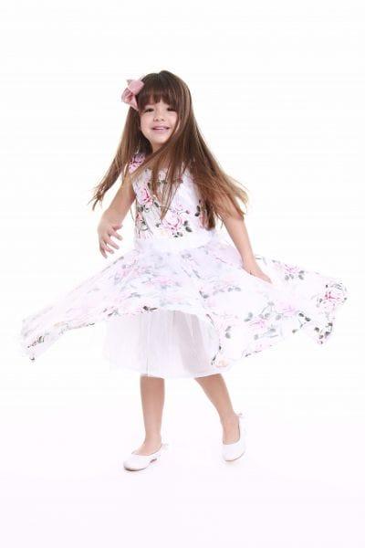Vestido Floral Infantil Formatura