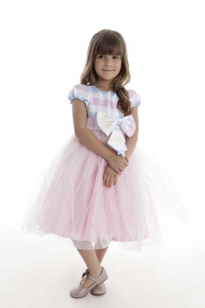 Vestido Infantil de Festa Candy Color