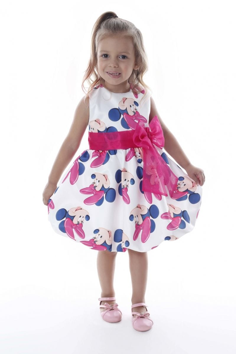 Vestido de Aniversário da Minnie Rosa