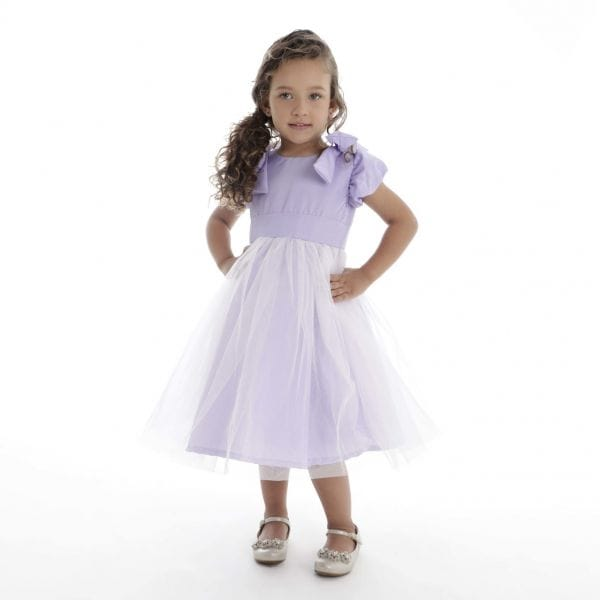 Vestido de Festa Infantil Lilas