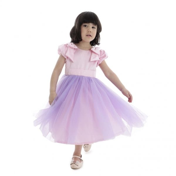 Vestido de Festa Infantil com Saia de Tule