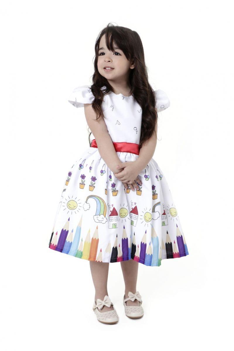Vestido de Formatura Infantil abc - Aquarela