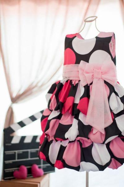 Vestido Minnie de aniversário