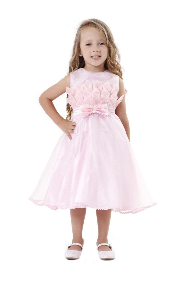 Vestido de Festa Infantil Rosa