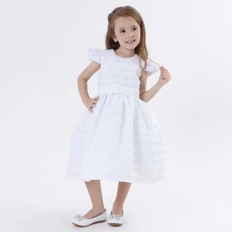 Vestido Dama de Honra Infantil Branco