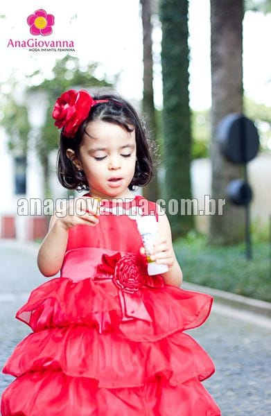 Vestido para Festa Infantil Chapeuzinho Vermelho