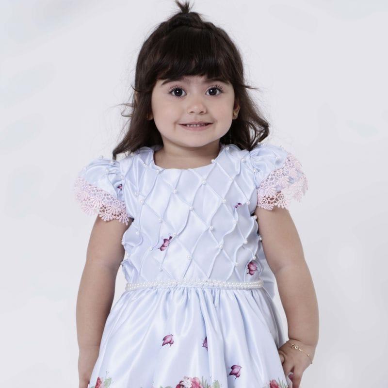 Vestido Infantil Tema Jardim
