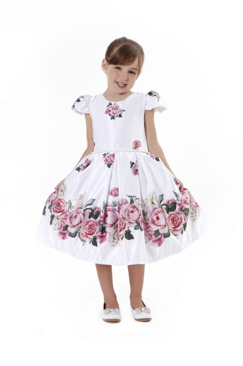 Vestido de Dama de Honra Infantil Floral