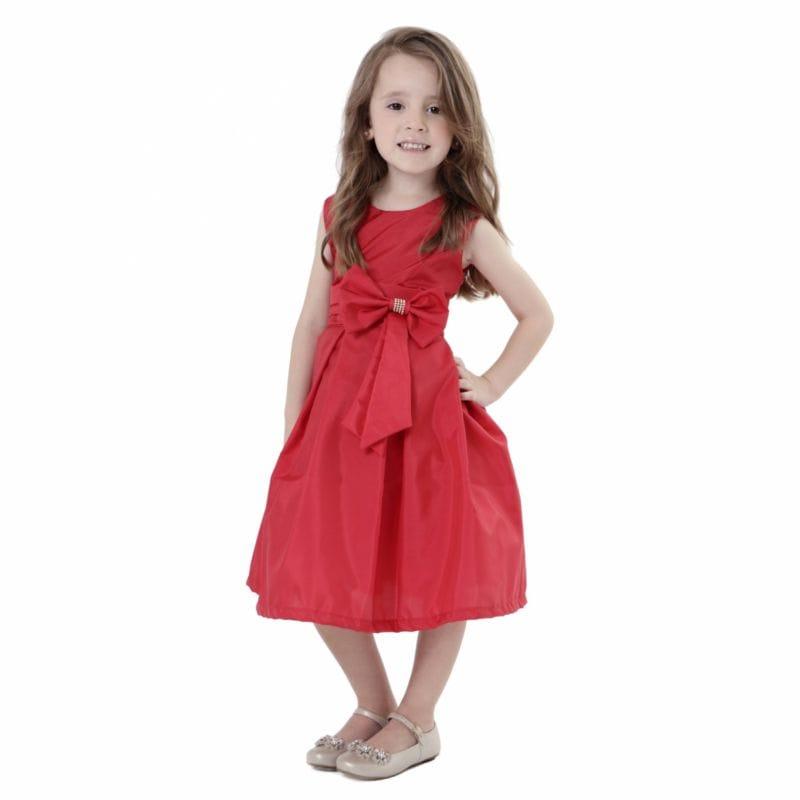 Vestido Infantil Vermelho