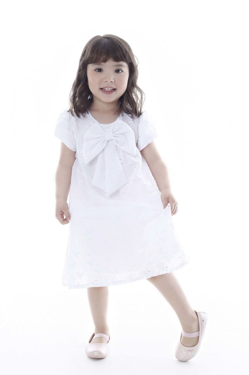 Vestido de Lese Branco Infantil