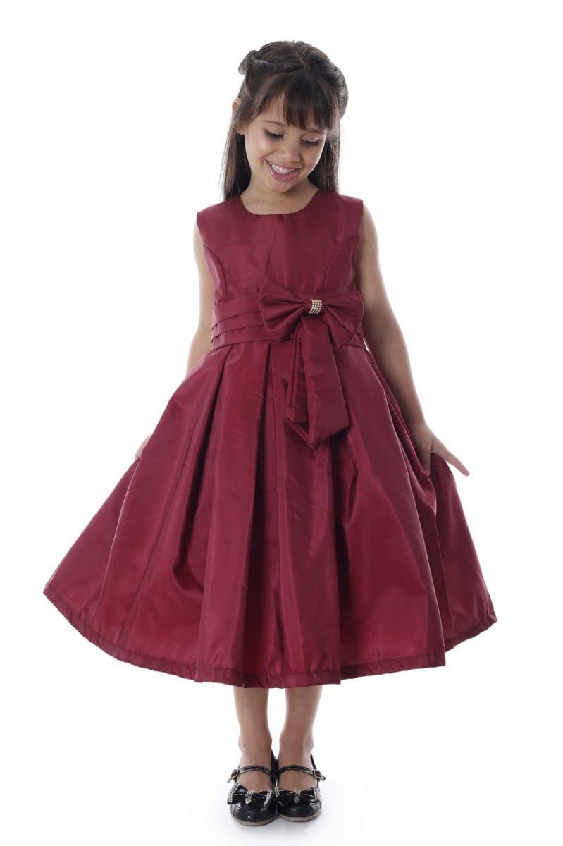 Vestido Infantil Marsala