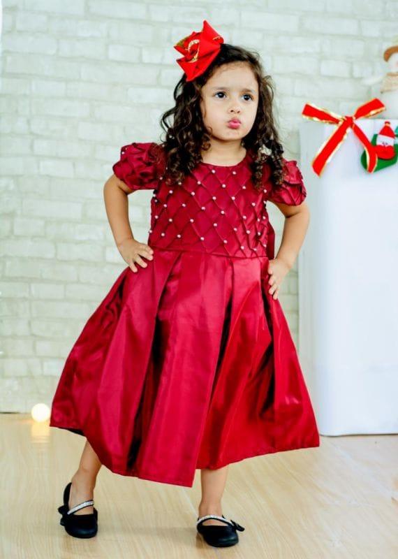 Vestido Marsala Infantil