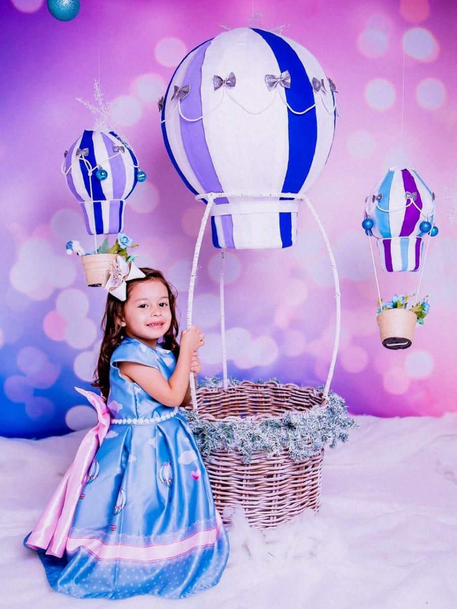 Vestido de Festa Infantil Balão