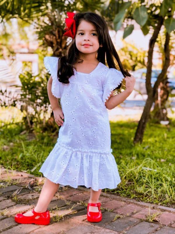 Vestido de Lese Infantil Branco