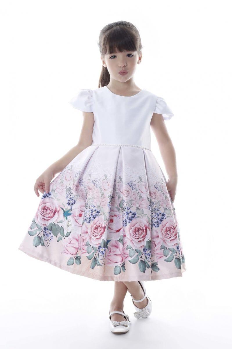 Vestido Infantil de Festa Daminha Floral