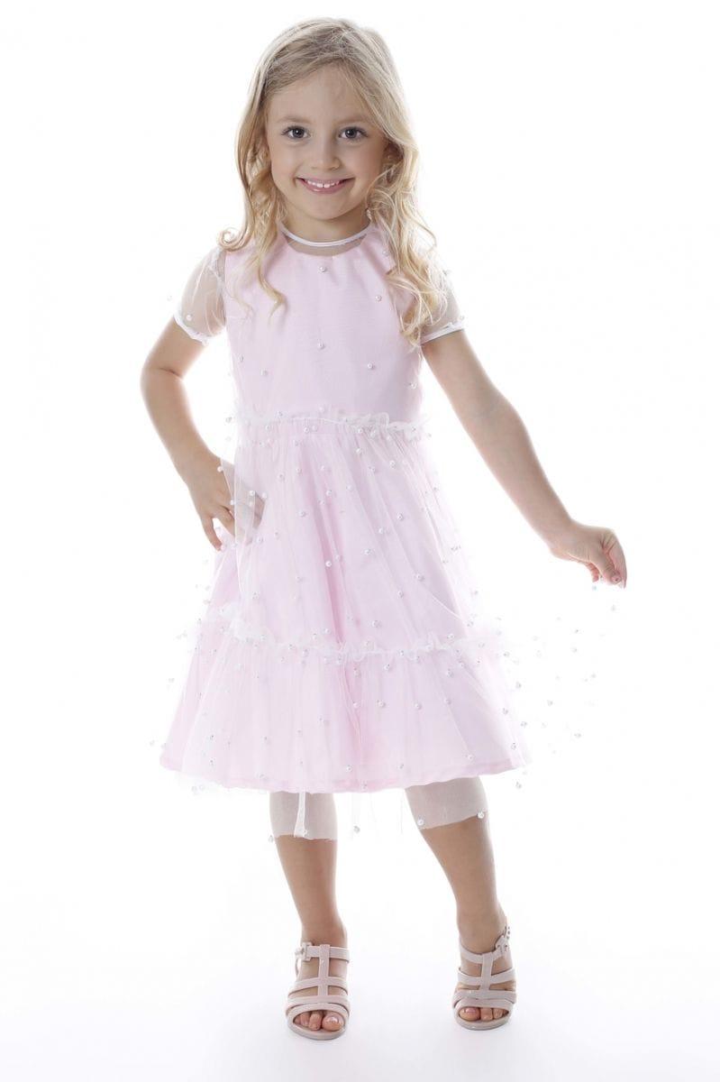Vestido Infantil Rosa de Festa