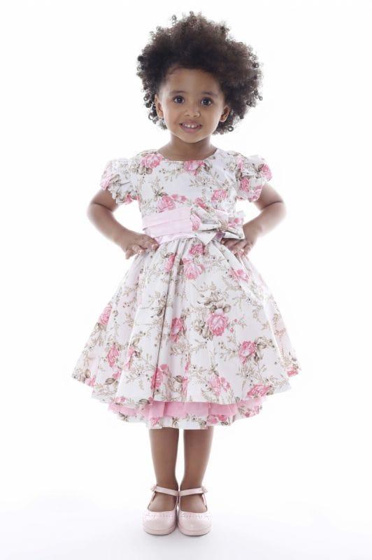 Vestido Floral Festa Infantil