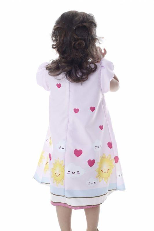 Vestido Infantil Tema Raio de Sol