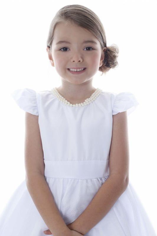 Vestido de Noivinha Infantil Para Casamento