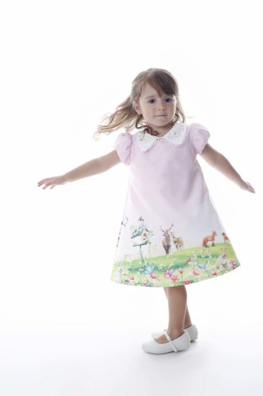 Vestido Infantil Tema Bosque