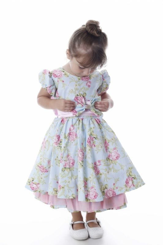 Vestido Florido Azul Infantil