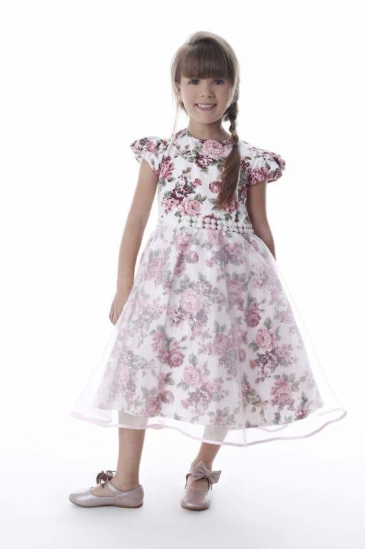 Vestido Infantil com Organza