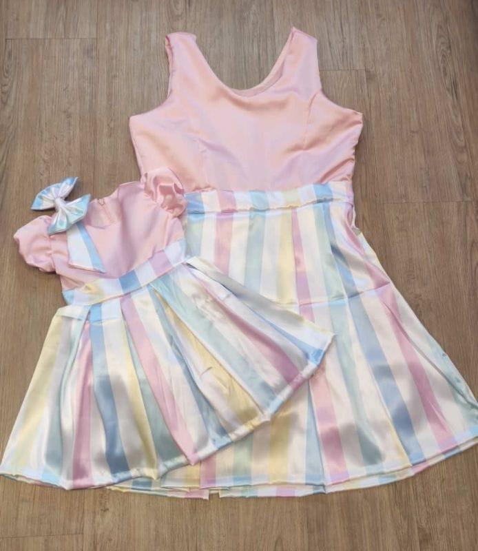 Vestidos Mãe e Filha Candy Color