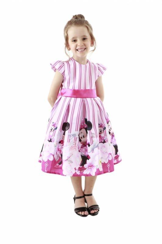 Minnie Rosa Vestido